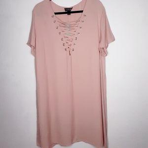 Forever21 Size 3X Dusty Rose Blush Shift Dress